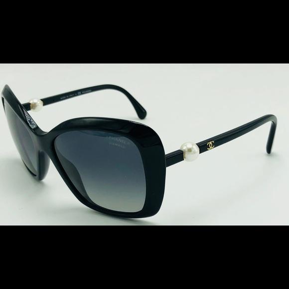 ffdde467c348 CHANEL Accessories - New Black Polarized Pearl CHANEL Sunglasses 5303-H
